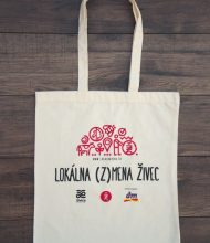 Cotton bag Standard of 145 g/m2 grammage, 4-color Pantone print via screen printing and water-based ecological dye