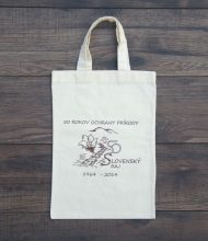 Conference cotton bag of 145 g/m2 grammage, Pantone print via screen printing and water-based ecological dye