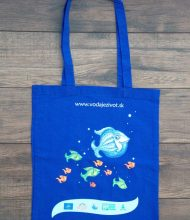 Cotton bag Standard of 140 g/m2  grammage, combination of full-color CMYK and Pantone print